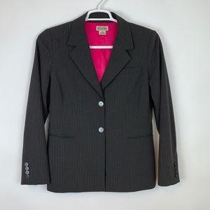 Michael Kors Women's Blazer, Gray w/ Pink Pinstrip
